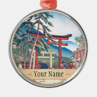 Berühmte Orte von Kyoto- - FushimiInari Landschaft Silbernes Ornament