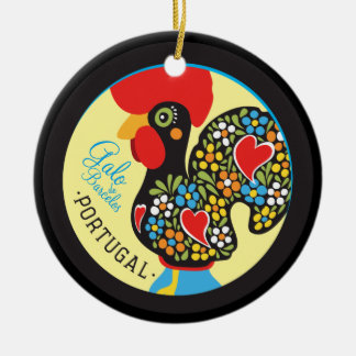 Berühmter Hahn von Barcelos #06 - Galo Barcelos Rundes Keramik Ornament
