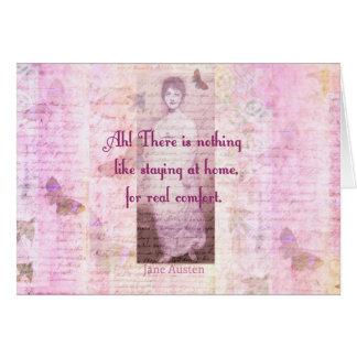 Berühmtes Zitat Janes Austen über Grußkarte