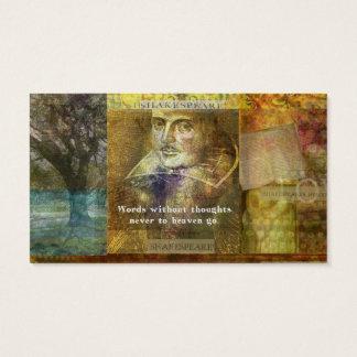 Berühmtes ZITAT WILLIAM SHAKESPEARES Visitenkarte