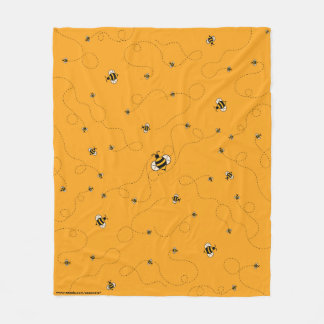 Beschäftigt als Bienen-Gelb-Fleece-Decke Fleecedecke