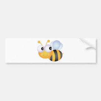 Beschäftigte Biene Autoaufkleber