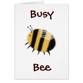 Beschäftigte Biene - bzzzz Mitteilungskarte