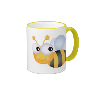 Beschäftigte Biene Kaffeehaferl