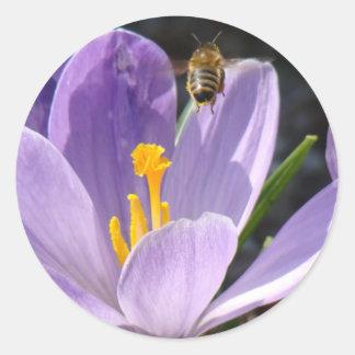 Beschäftigte Bienen-Aufkleber Runder Aufkleber