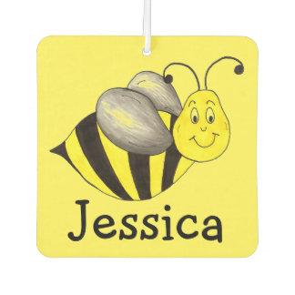 Beschäftigte Bienen-Gelb-Hummel-personalisiertes Lufterfrischer