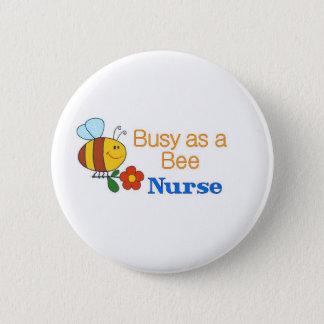 Beschäftigte Bienen-Krankenschwester Runder Button 5,1 Cm