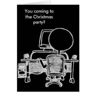Beschäftigte Computer-Typ-Weihnachtskarte Mitteilungskarte