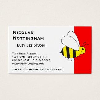 Beschäftigte kleine Hummel-Biene Visitenkarte