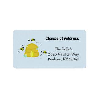 Beschäftigter Bienenstock unsere Adresse Adress Aufkleber