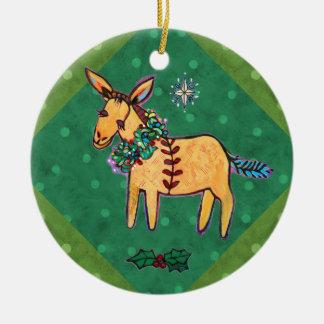 Bescheidener Esel an der Keramik Ornament