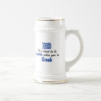 Bescheidener Grieche Bierglas