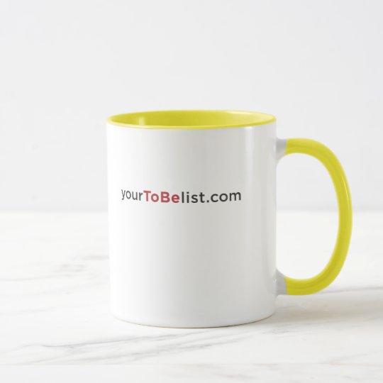 Beschließen Sie, glücklich zu sein Tasse