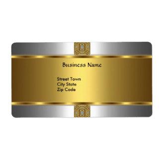 Beschriften Sie Geschäft elegantes silbernes Goldj