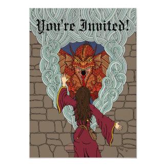Beschwören des Drachen 12,7 X 17,8 Cm Einladungskarte