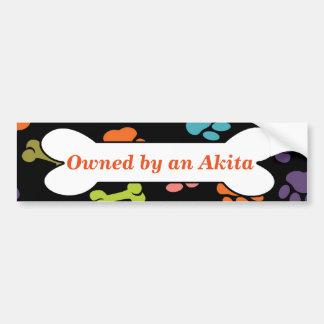 Besessen durch ein Akita Autoaufkleber