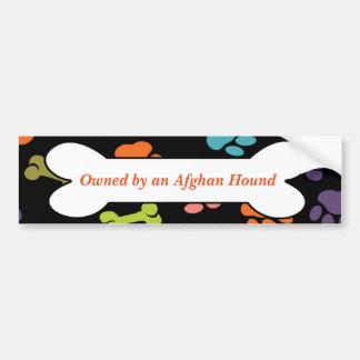Besessen durch einen Afghanen oder andere Autoaufkleber
