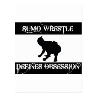 besessen gewesen mit Sumo-Wringen Postkarte