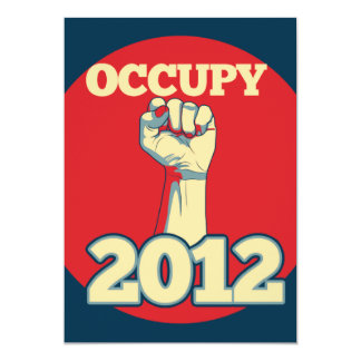 Besetzen Sie Bewegung 2012 12,7 X 17,8 Cm Einladungskarte