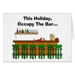 Besetzen Sie die Bar-lustige Weihnachtskarte - Ver Karte