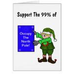 Besetzen Sie die Nordpol-Elf-Protest-Weihnachtskar Karten