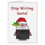 Besetzen Sie die Nordpol-Weihnachtskarte