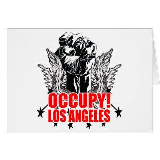 Besetzen Sie Los Angeles Grußkarte