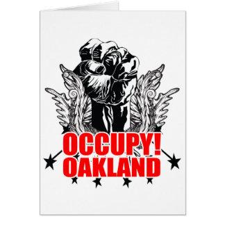 Besetzen Sie Oakland Grußkarte