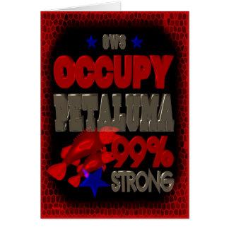 Besetzen Sie Petaluma OWS starkes Plakat Protestes Grußkarte