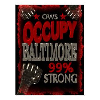 Besetzen Sie Protest Baltimores OWS 99 Prozent Postkarten