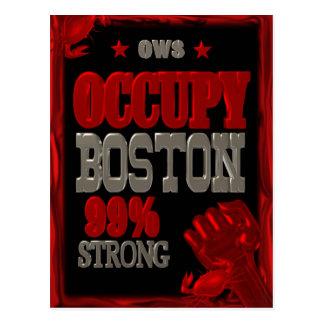 Besetzen Sie Protest Bostons OWS das Postkarte