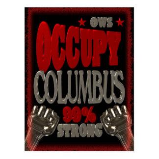 Besetzen Sie Protest Columbus OWS 99 Prozent stark Postkarten