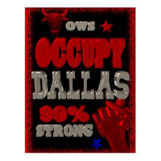 Besetzen Sie Protest Dallas OWS 99 Prozent stark Postkarten