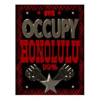 Besetzen Sie Protest Honolulus OWS 99 Prozent Postkarten
