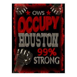 Besetzen Sie Protest Houstons OWS 99 Prozent stark Postkarten