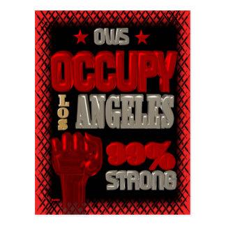 Besetzen Sie Protest Los Angeless OWS 99 Prozent Postkarte