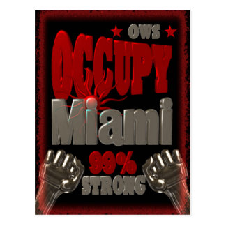 Besetzen Sie Protest Miamis OWS das Postkarte