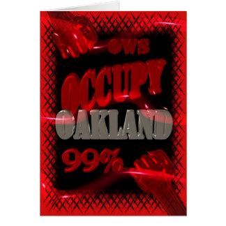 Besetzen Sie Protest Oaklands OWS Occupy Wall Grußkarte