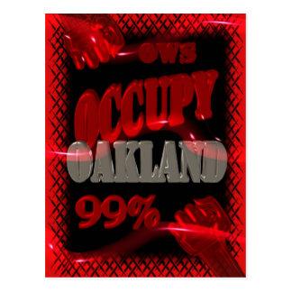 Besetzen Sie Protest Oaklands OWS Occupy Wall Postkarte