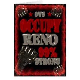 Besetzen Sie Protest Reno OWS das Grußkarte