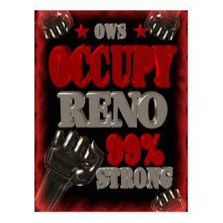 Besetzen Sie Protest Reno OWS das Postkarte
