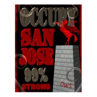 Besetzen Sie Protest San Jose OWS 99 Prozent stark Postkarte