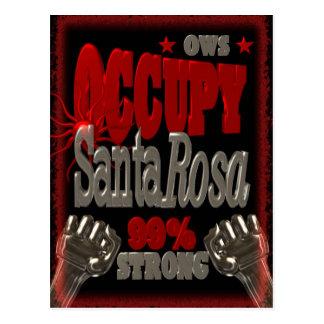 Besetzen Sie Protest Santa Rosa OWS 99 Prozent Postkarten