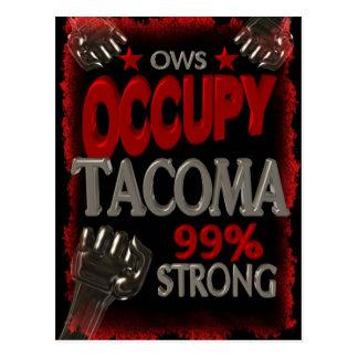 Besetzen Sie Protest Tacomas OWS 99 Prozent stark Postkarte