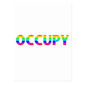 Besetzen Sie Regenbogen Postkarten