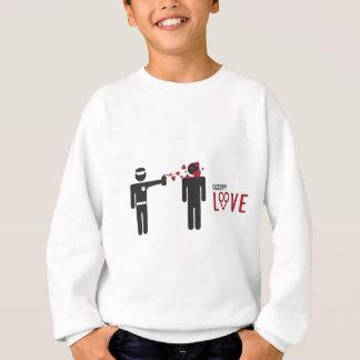 Besetzen Sie Spray-Liebeentwurf der Liebe coolen Sweatshirt