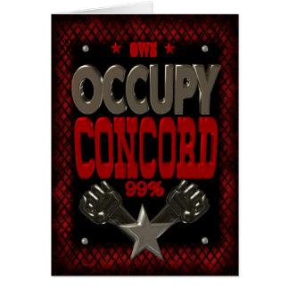 Besetzen Sie starkes Plakat des Protestes 99 der Grußkarte