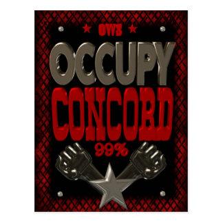 Besetzen Sie starkes Plakat des Protestes 99 der Postkarte