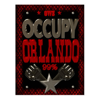 Besetzen Sie starkes Plakat Protestes 99 Orlandos Postkarten