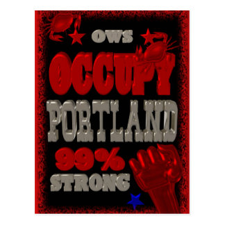Besetzen Sie starkes Plakat Protestes 99 Portlands Postkarten